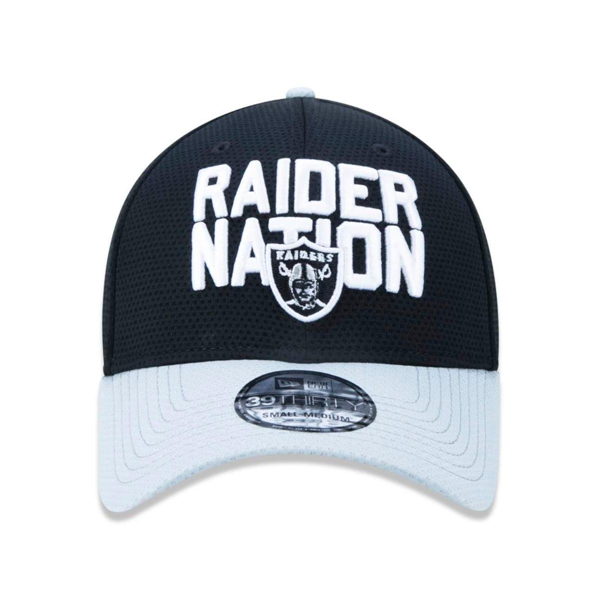 a232313b28 Boné 3930 Oakland Raiders NFL Aba Curva New Era - Preto - Compre ...