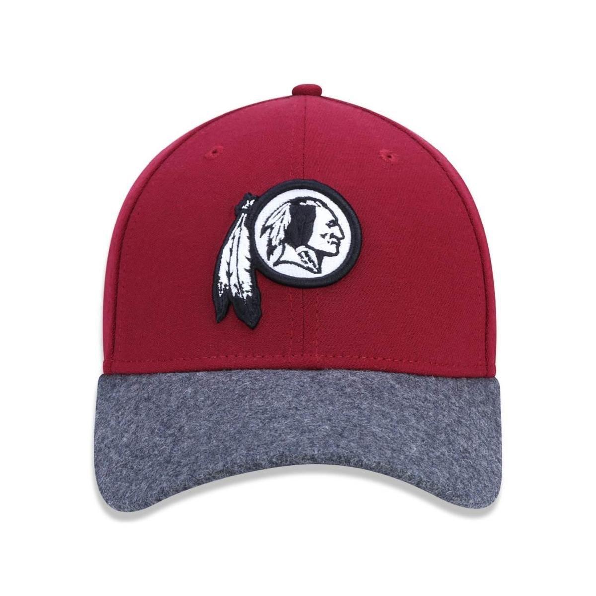 Bone 3930 Washington Redskins NFL New Era - Vermelho Escuro e Chumbo ... 577461b1866