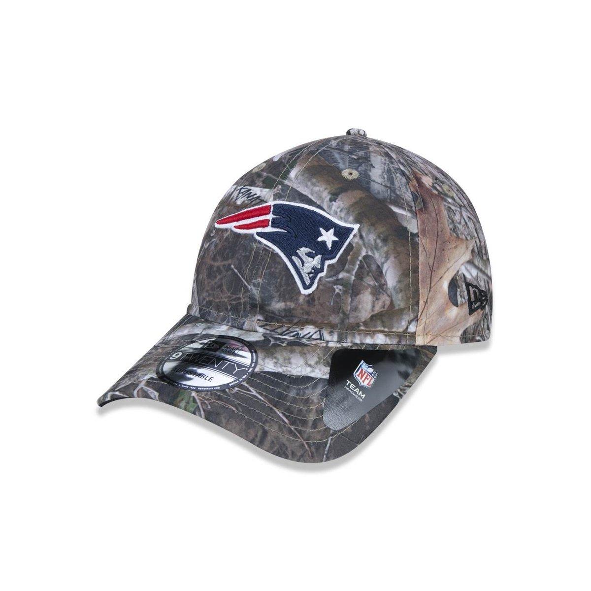 7d06da12eb6c6 Boné 920 New England Patriots NFL Aba Curva Strapback New Era - Verde  Militar - Compre Agora