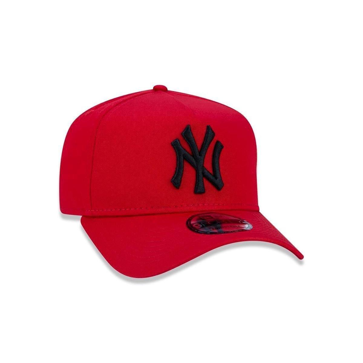 Boné 940 New York Yankees MLB Aba Curva Snapback New Era - Vermelho ... 37c2dc5d76e