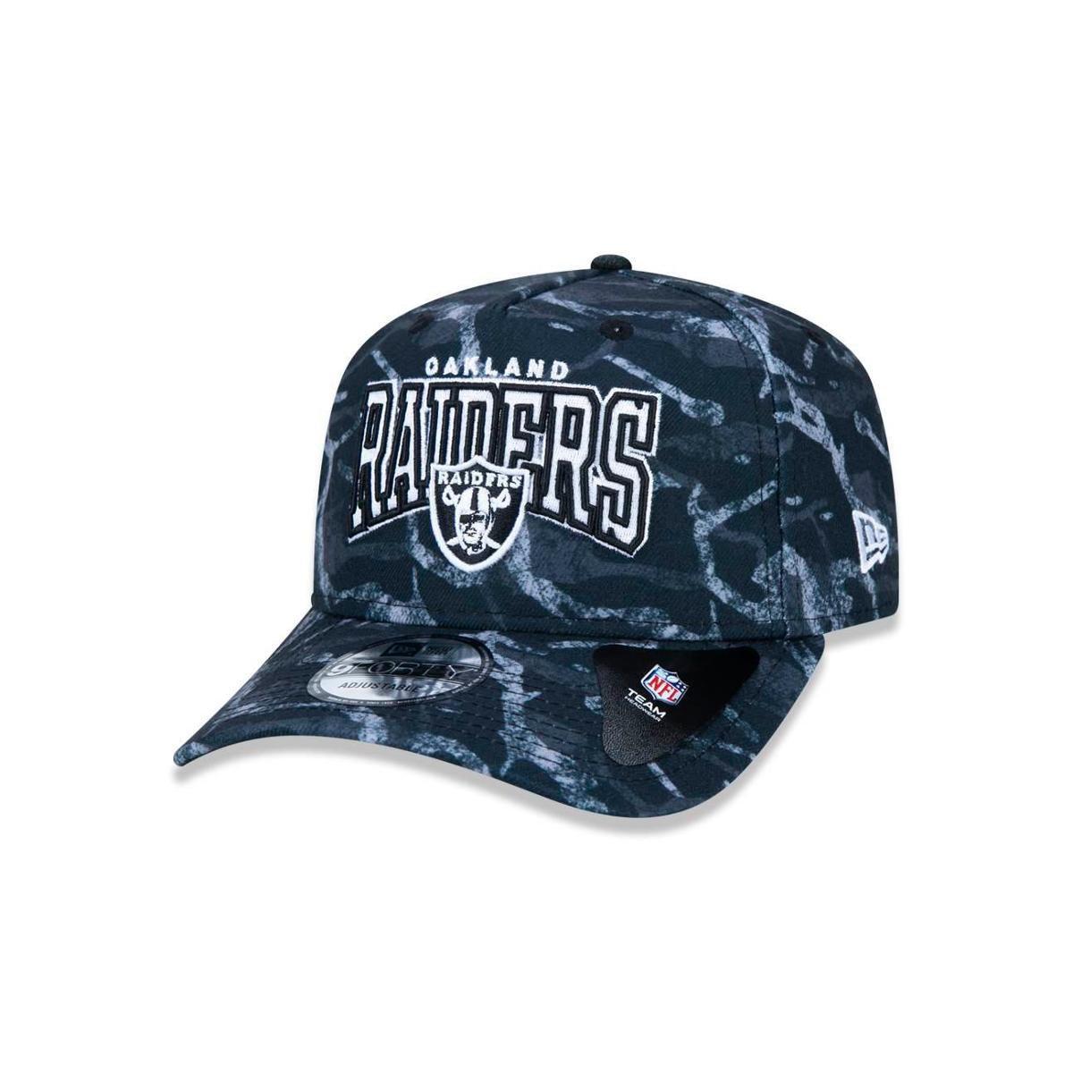 Boné 940 Oakland Raiders NFL Aba Curva New Era - Preto - Compre ... 97287f4f2a3