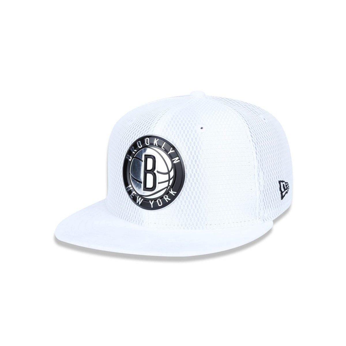 Bone 950 New Era Brooklyn Nets NBA Aba Reta Snapback - Branco ... f6dc31b8ec6