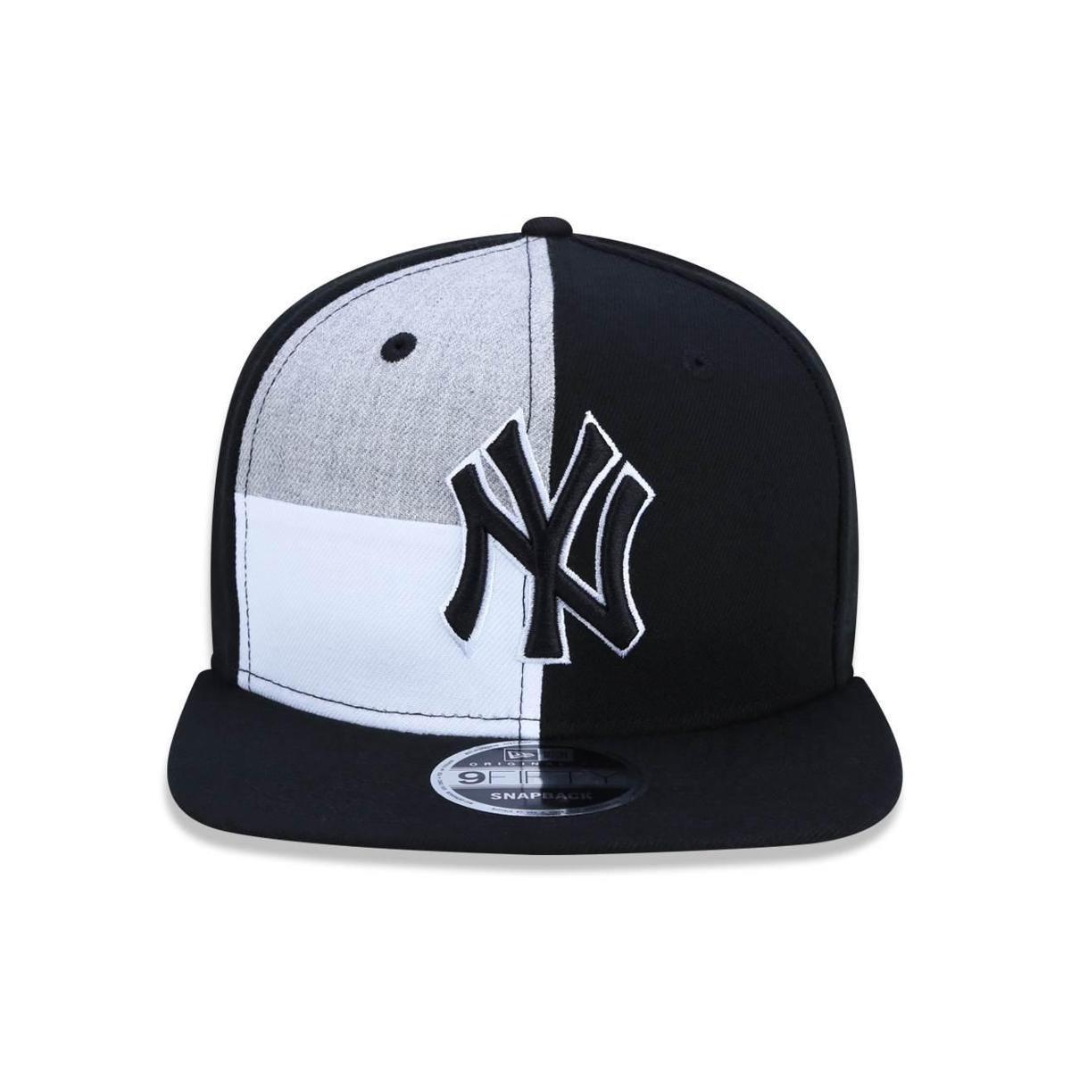 2e42f4f1d0 ... Bone 950 Original Fit New York Yankees MLB Aba Reta Snapback  Preto Cinza New Era ...