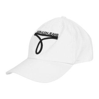 Boné Calvin Klein Aba Curva Strapback 6 Gomos Logo CKJ