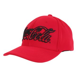 Boné Coca-Cola Trucker Aba Curva Bordado 3D Masculino