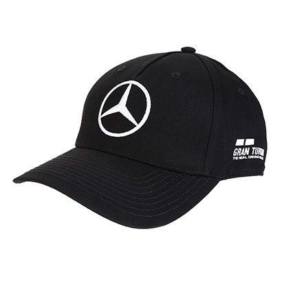 Boné Mercedes-Benz Aba Curva Oficial F1 2018 Piloto L. Hamilton