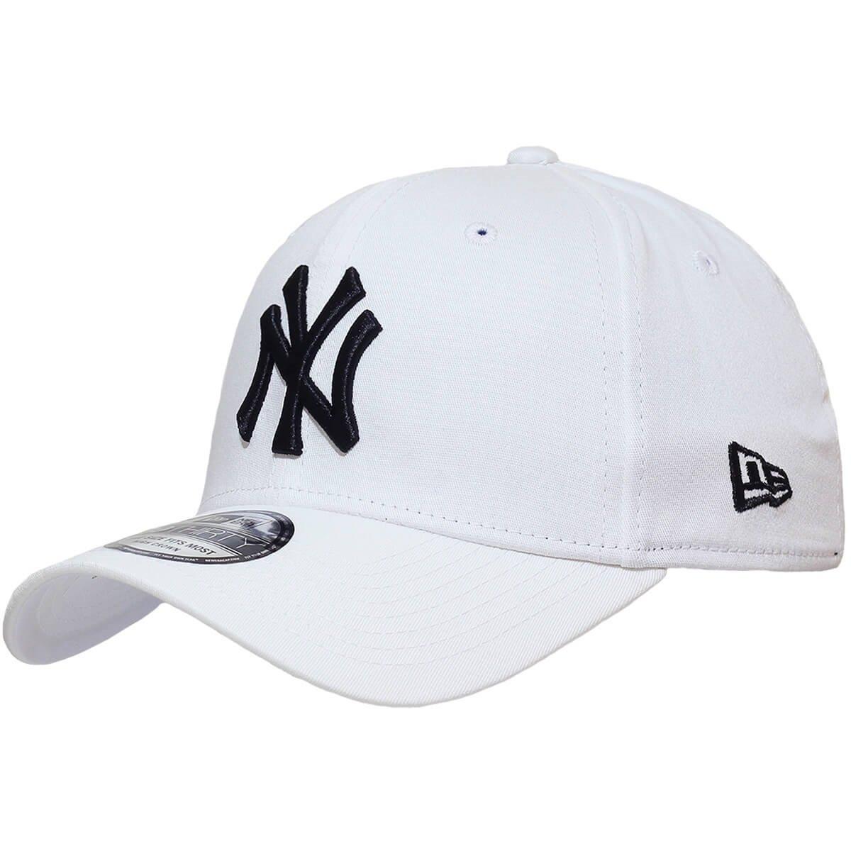 85ae77037 Boné New Era Aba Curva Fechado Mlb Ny Yankees Colo - Branco - Compre Agora