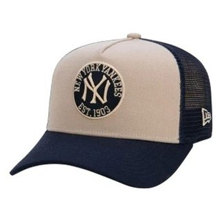 Boné New Era Masculino 9FORTY Yankees Felt Trucker