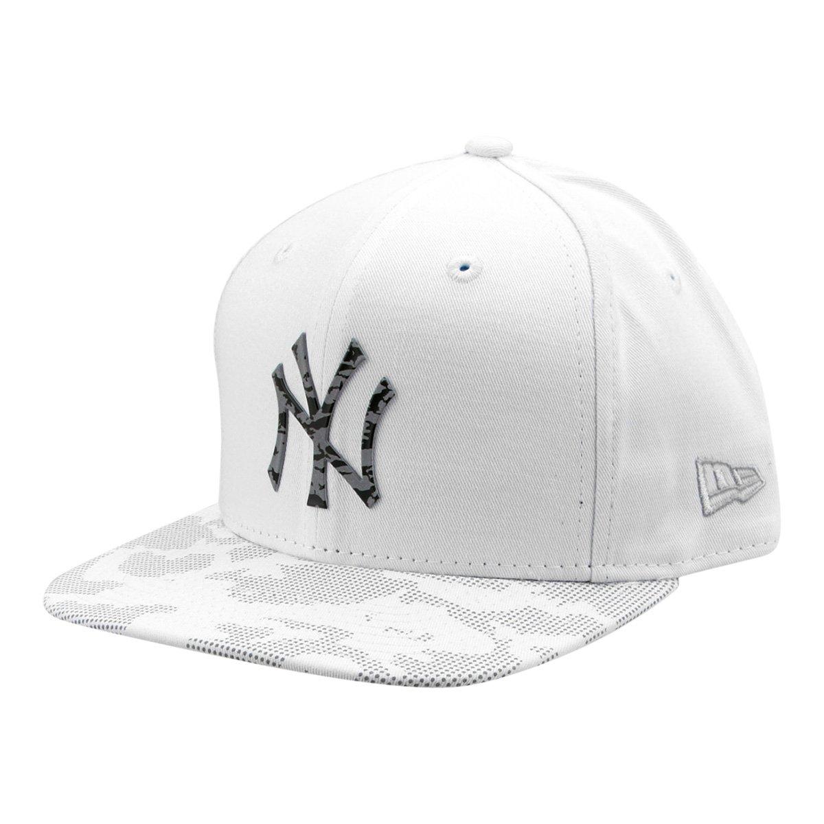 Boné New Era MLB New York Yankees Aba Reta Lic980 - Compre Agora ... cb3e2564f88