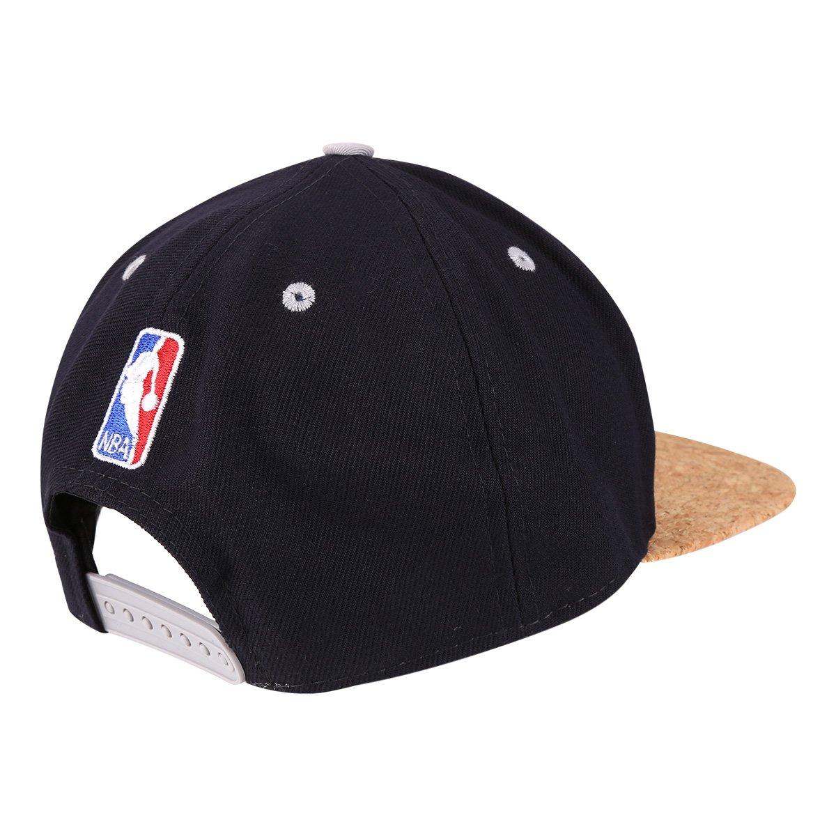 584cdb70bd88c Boné New Era NBA San Antonio Spurs Aba Reta Cork - Marinho - Compre ...