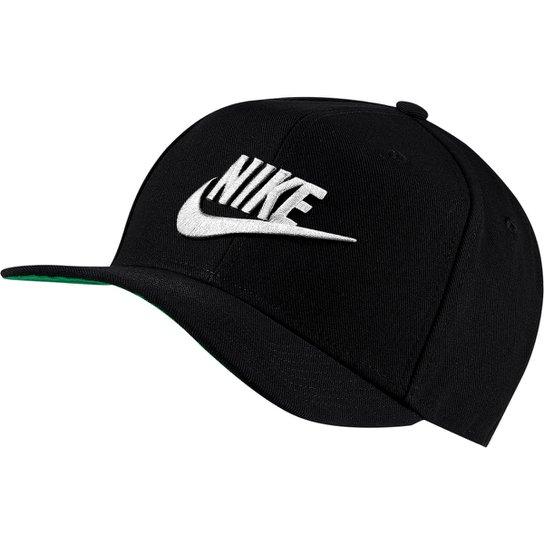 Boné Nike Aba Reta Pro Futura - Preto+Branco