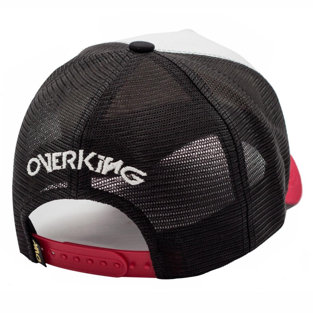 Boné Overking Aba Curva Trucker Snapback Barbershop - Preto - Compre ... c2b4731eb79
