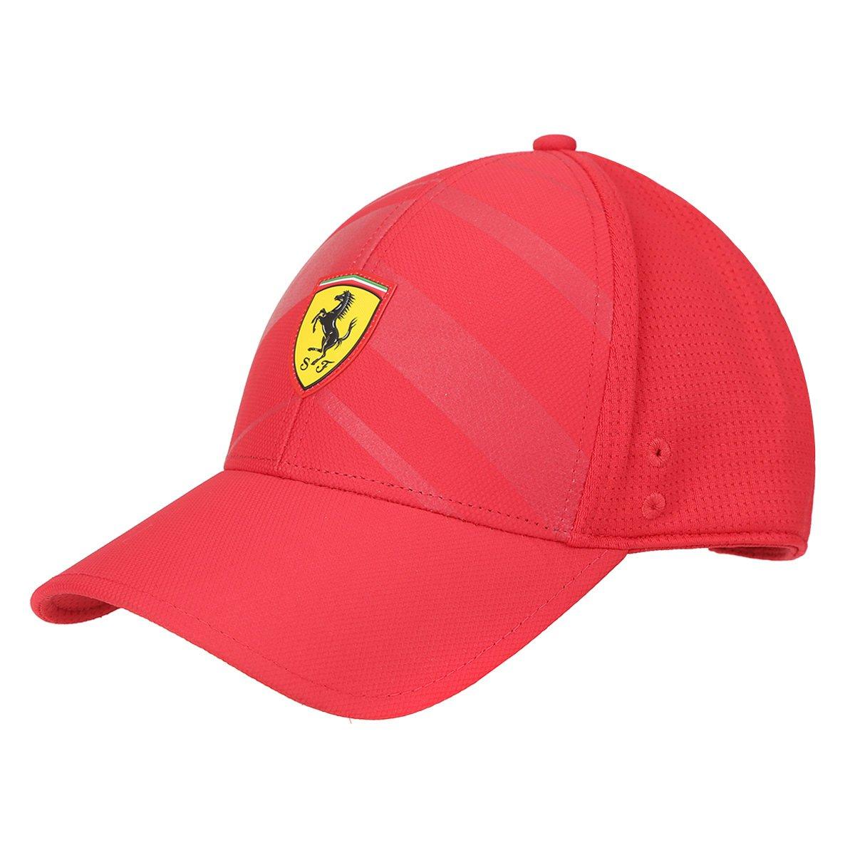 4a20aa93c Boné Puma Scuderia Ferrari Aba Curva Fanwear Tech BB - Vermelho | Zattini