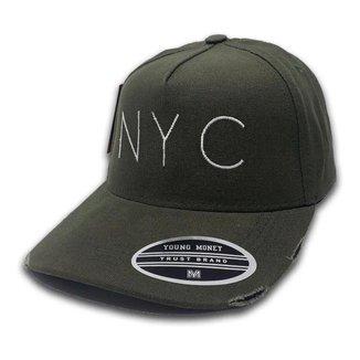 Boné Young Money New York Aba Curva Rasgadinho Ajustável