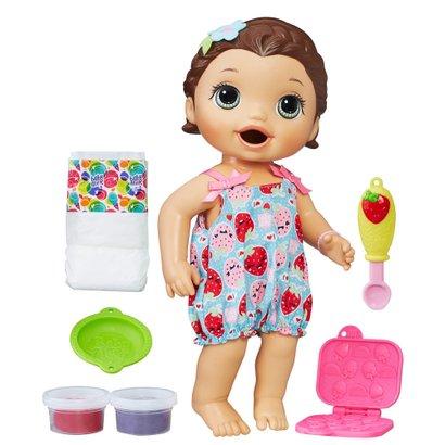 Boneca Baby Alive - 30 cm - Morena - Lanchinhos Divertidos - C2698 - Hasbro