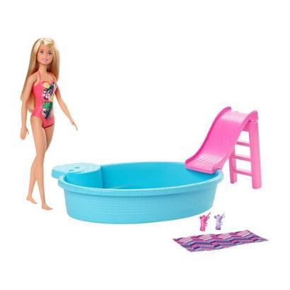 Boneca Barbie Piscina Chique com Acessórios Mattel