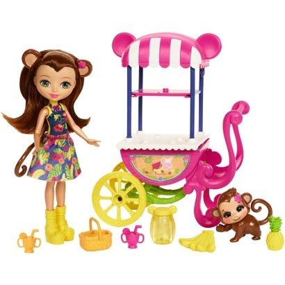 Boneca Fashion e Veículo - Enchantimals - Merit Monkey - Mattel