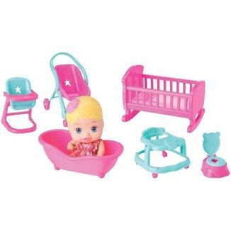 Boneca Little Dolls Casinha com Acessórios