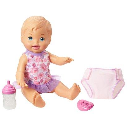 Boneca Little Mommy - Bebê Faz Xixi - Loira - Mattel