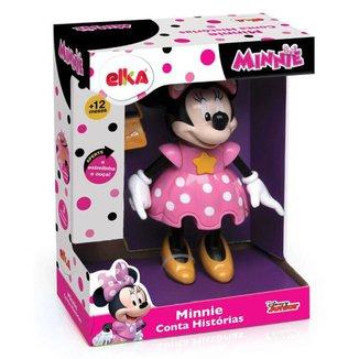 Boneca Minnie Conta Histórias Elka Disney