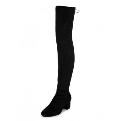 Bota Amaro Over The Knee Salto Baixo Feminino-Feminino