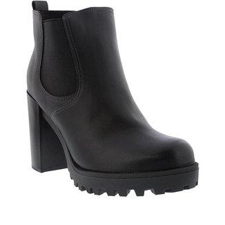 Bota Ankle Boot Moleca Salto Grosso      Feminina