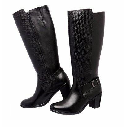 Bota Art Shoes Montaria Couro-Feminino