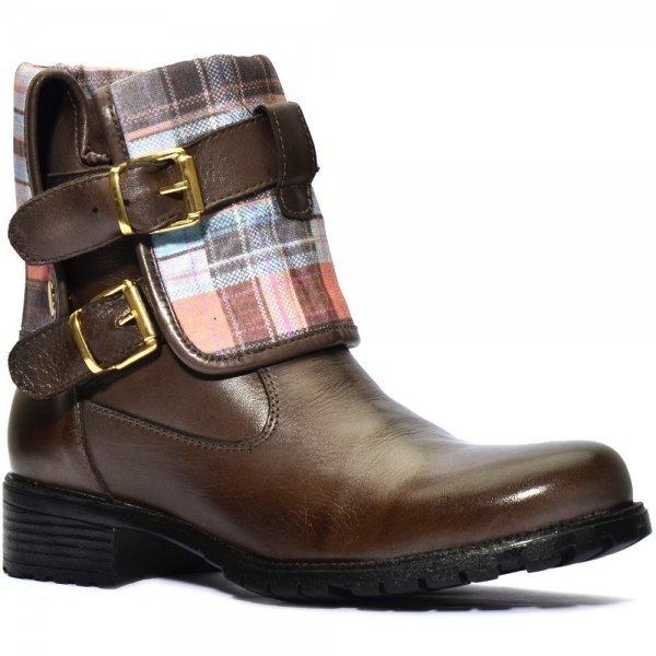 Bota Feminina com Atron Bota Cano Marrom Shoes Dobavél Shoes Atron rqrOp