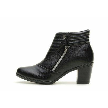 Bota Atron Shoes Zíper Media-Feminino