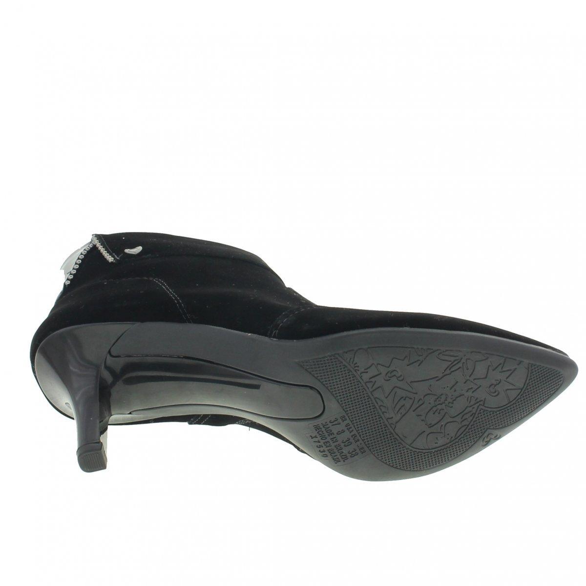 Preto Bota Ankle Mississipi Camurça Camurça Feminino Boots Bota rBt0qr