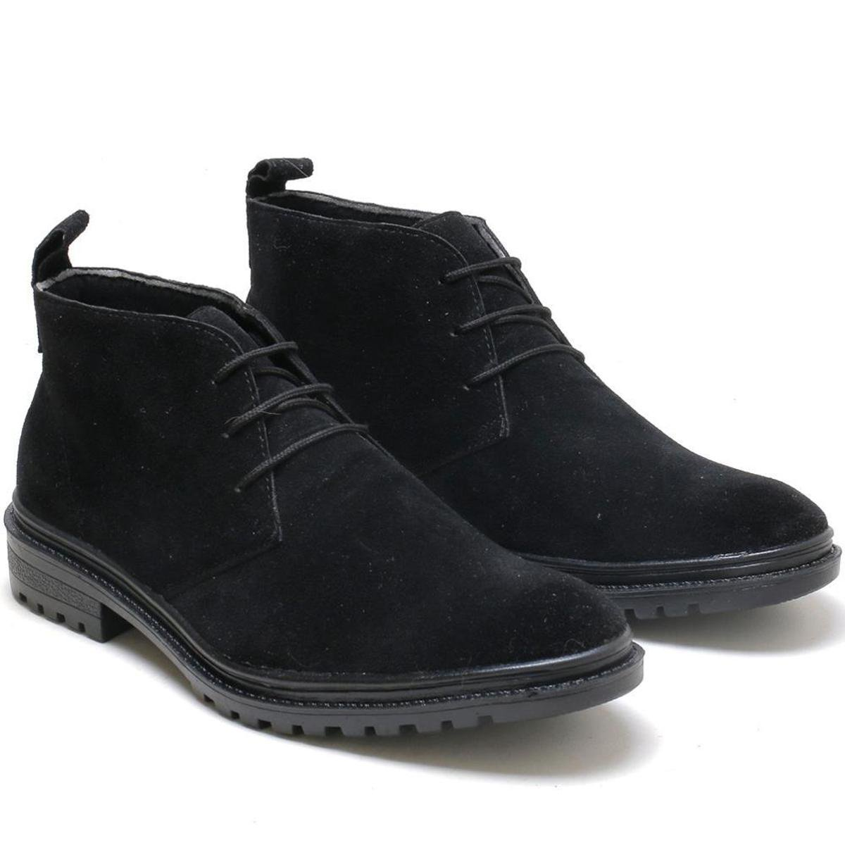 Bota Camurça Navit Shoes Alabama Masculina - Preto