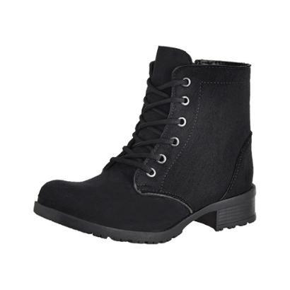 Bota Cano Curto Cr Shoes Camurça Feminina-Feminino
