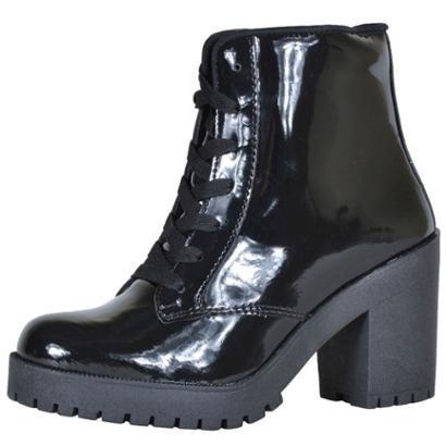 Bota Cano Curto Cr Shoes Verniz Feminina-Feminino