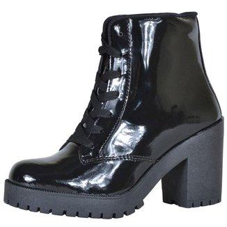 Bota Cano Curto CR Shoes Verniz Feminina