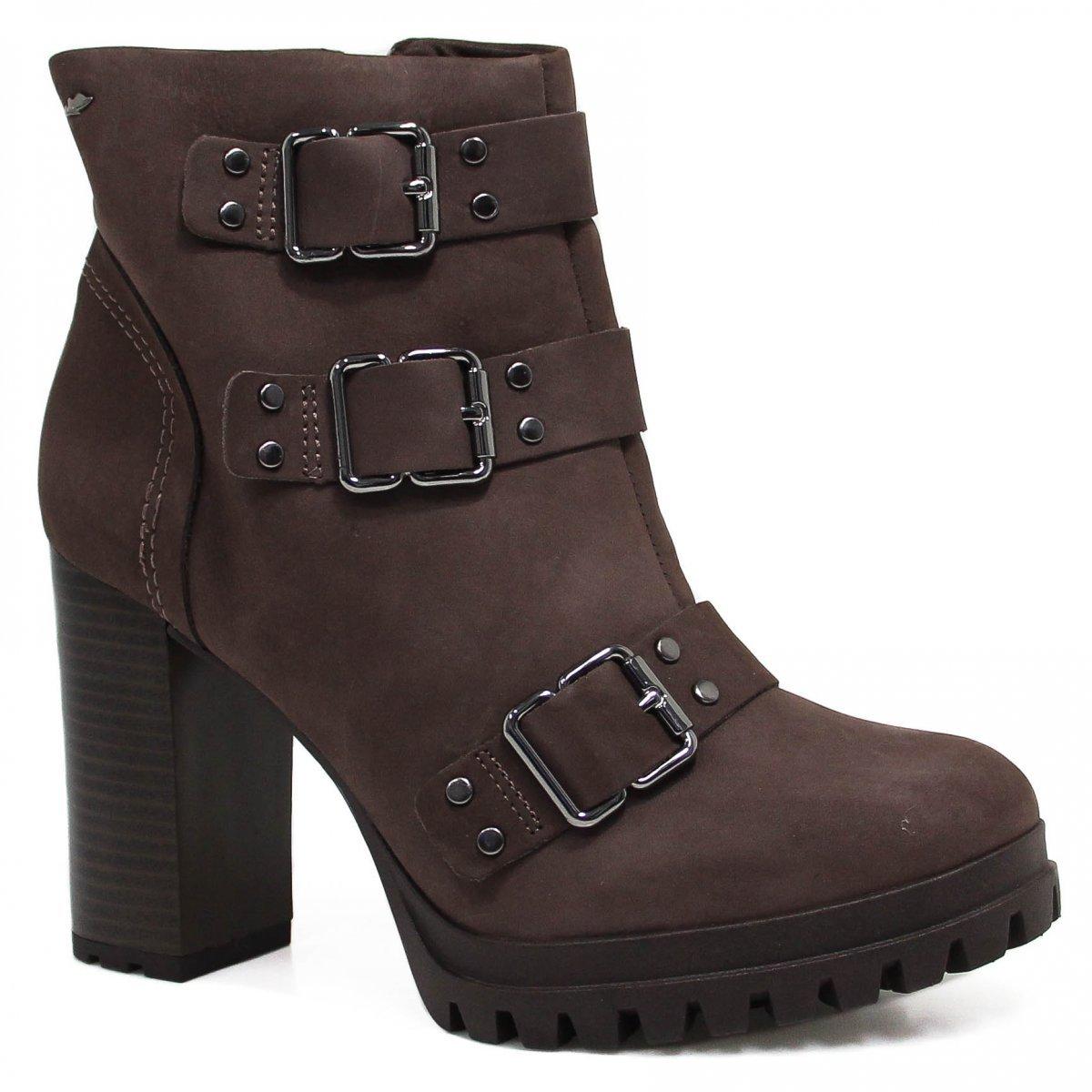 3c018ec90557f Bota Cano Curto Dakota Ankle Boot Fivelas Feminina - Compre Agora ...