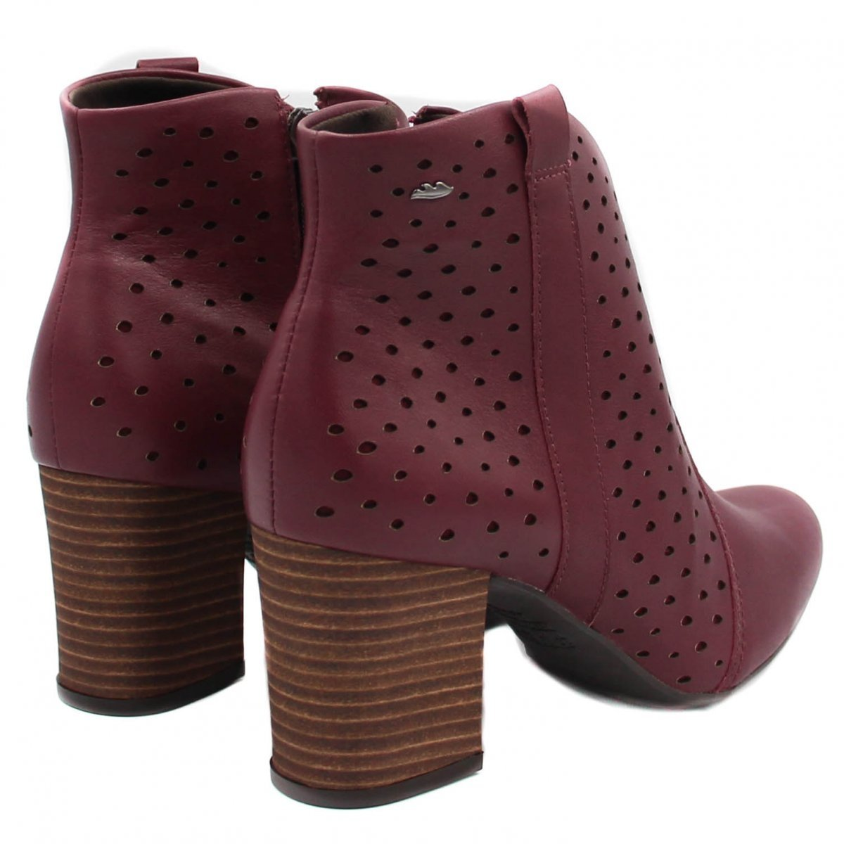 Bota Cano Curto Dakota Ankle Boot Zíper Feminina - Vermelho - Compre ... 9606e46c02