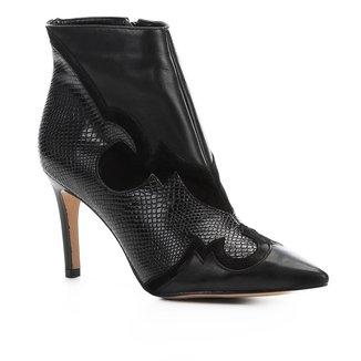 Bota Cano Curto Shoestock Couro Western Feminina