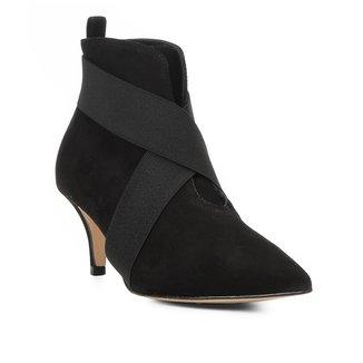 Bota Cano Curto Shoestock Kitten Heel Elástico Feminina