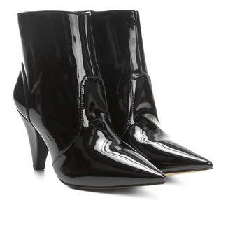 Bota Cano Curto Shoestock Salto Cone Feminina