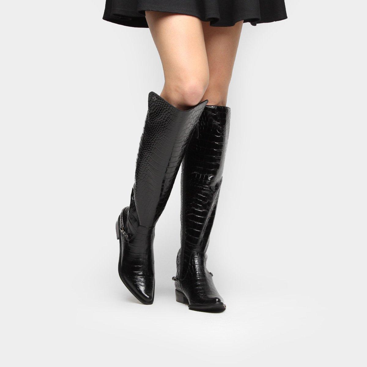 f61e4b68e Bota Capodarte Over Knee Croco Corrente - Compre Agora | Zattini
