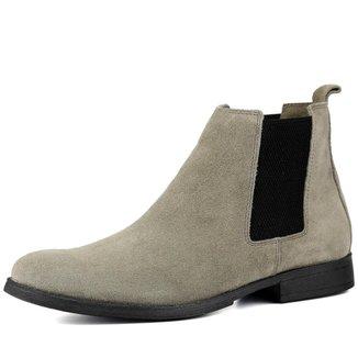 Bota Chelsea Boots Escrete Couro Camurça   Masculina
