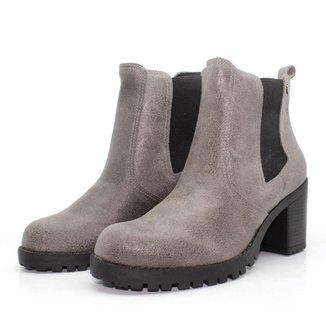 Bota Chelsea Feminina Bury Barth Shoes Camurça Resina Tratorada
