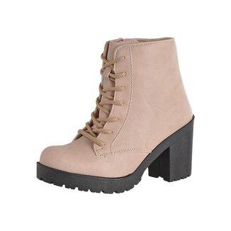 Bota Coturno CR Shoes Napa Feminina