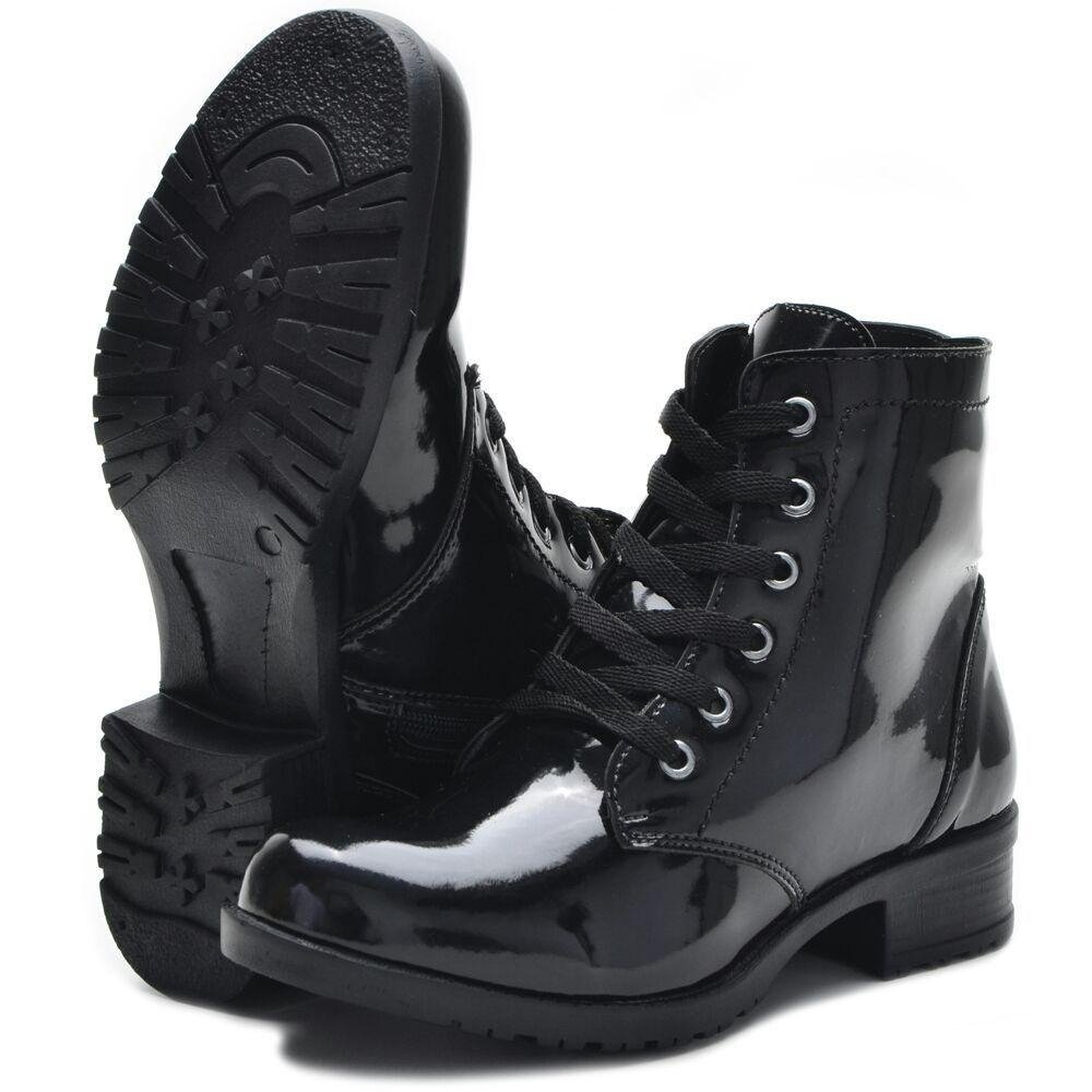 Coturno Bota Shoes Preto Verniz CR Coturno Bota CR zOtnZt