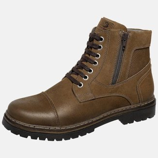 Bota Coturno Em Couro Mega Boots 6031 Chumbo