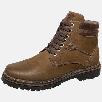 Bota Coturno Em Couro Mega Boots 6032 Chumbo-cafe