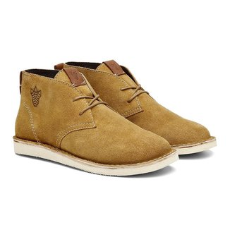 Bota Coturno Gobi Desert Camurça Cano Baixo Black Boots