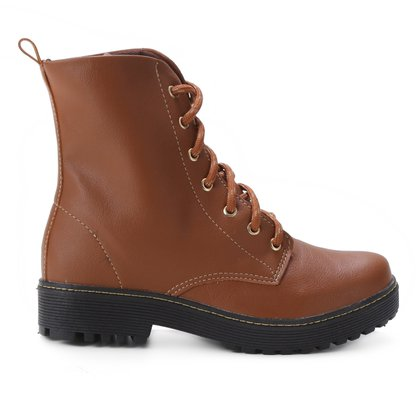 Bota Coturno Look Fashion Liso Feminino