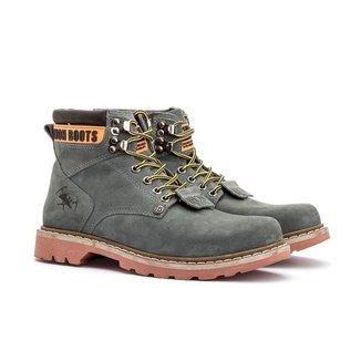 Bota Coturno Masculino Adventure Jhon Boots Cinza - 850c