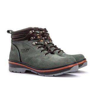 Bota Coturno Masculino Adventure Roed Shoes Cinza